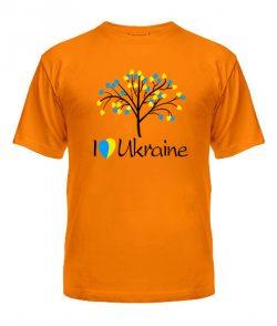 Мужская Футболка Я люблю Ukraine