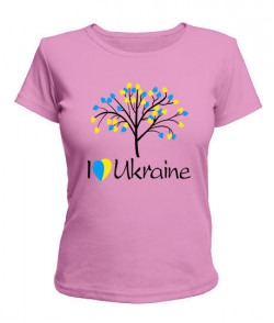 Женская футболка Я люблю Ukraine