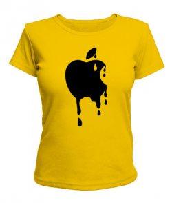 Женская футболка Apple №3