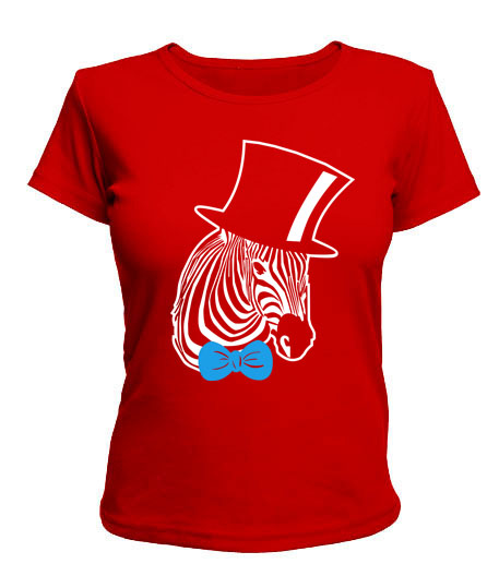 Женская футболка Зебра-хипстер №2