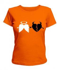 Женская футболка Ангел и Бес