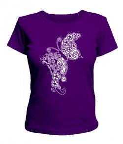 Женская футболка Узор бабочка