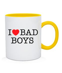 Чашка I love bad boys