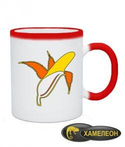 Чашка хамелеон Банан