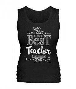 Женская майка Самый лучший учитель Вариант 3