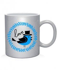 Чашка арт Birds love (для него)