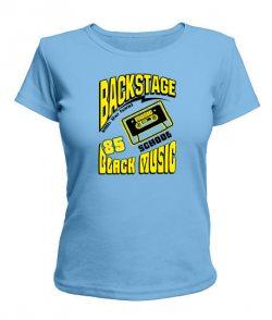 Женская футболка Черная музыка