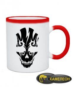 Чашка хамелеон Череп №14