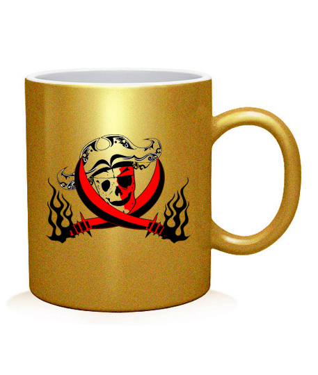 Чашка арт Череп-пират