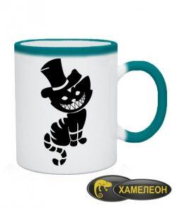 Чашка хамелеон Чеширский кот