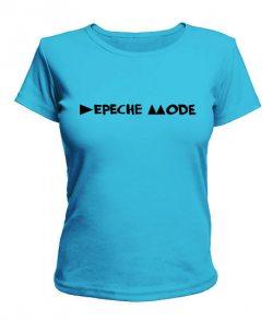 Женская футболка Depeche mode (Депеш мод) Вариант №7