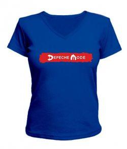 Женская футболка с V-образным вырезом Depeche mode (Депеш мод) Вариант №15