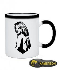 Чашка хамелеон Девушка Вариант №1