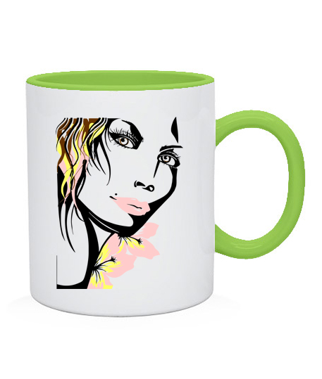 Чашка Девушка Вариант №3