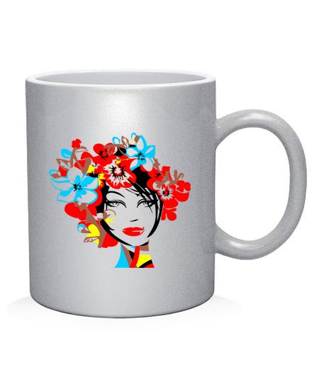 Чашка арт Девушка Вариант №4