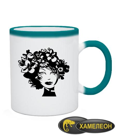 Чашка хамелеон Девушка Вариант №5