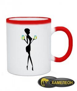 Чашка хамелеон Девушка Вариант №7