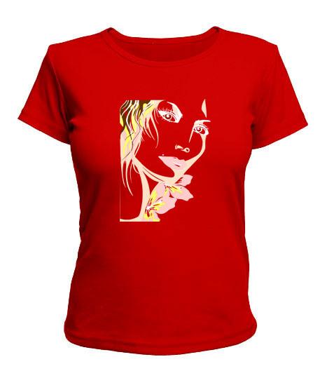 Женская футболка Девушка Вариант №3