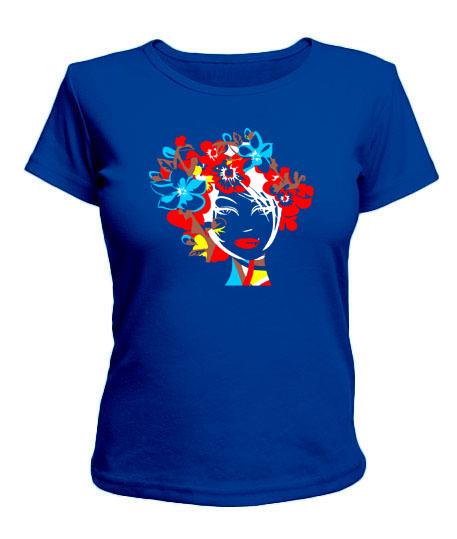 Женская футболка Девушка Вариант №4