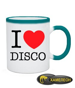 Чашка хамелеон I love disco