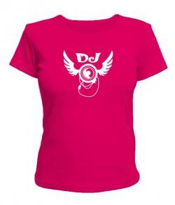 Женская футболка DJ logo Вариант №3