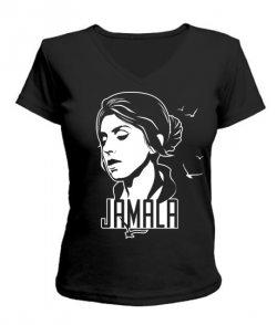 Женская футболка с V-образным вырезом Джамала Вариант №3