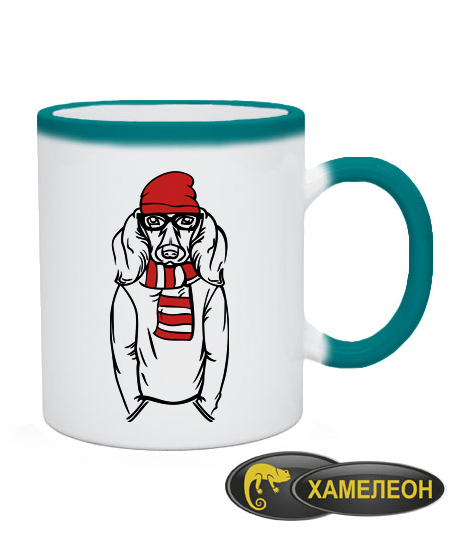 Чашка хамелеон Хипстер-DOG №2