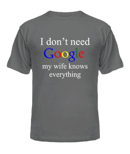 Мужская Футболка I don't need google