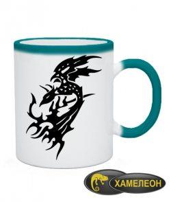 Чашка хамелеон Тату Дракон