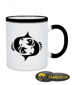 Чашка хамелеон Рыбы