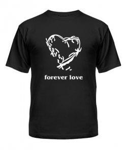 Футболка-мужская-черная(S)-Forever love