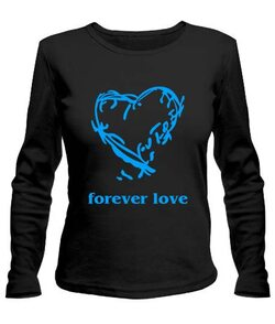 Женский лонгслив Forever love