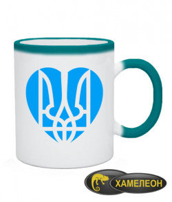 Чашка хамелеон Герб-сердце