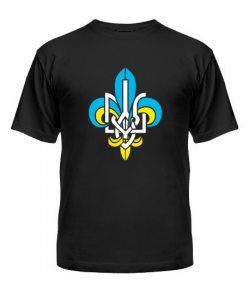 Мужская Футболка Герб Украины Вариант №21