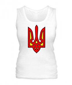 Женская майка Герб Украины Вариант №8