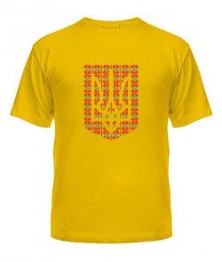 Мужская Футболка Герб Украины - Вышиванка