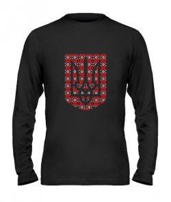 Мужской Лонгслив Герб Украины - Вышиванка