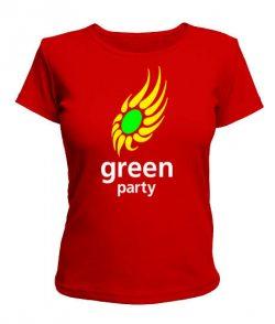 Женская футболка Green party