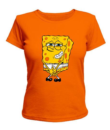 Женская футболка Спанч Боб Вариант №1