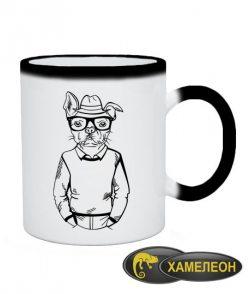 Чашка хамелеон Хипстер-DOG №4