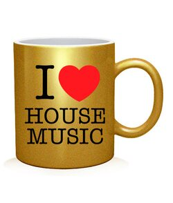Чашка арт I love house music