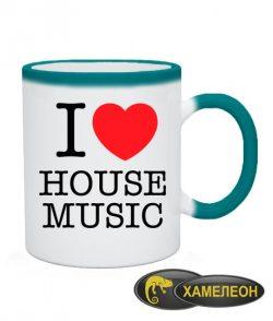 Чашка хамелеон I love house music