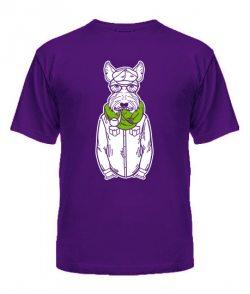 Мужская Футболка Хипстер-DOG