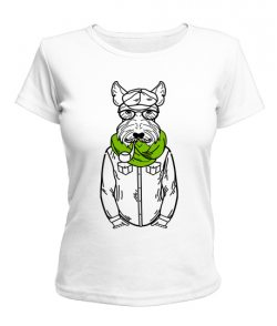 Женская футболка Хипстер-DOG