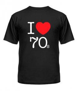 Мужская Футболка I love 70s