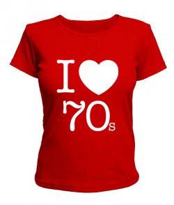 Женская футболка I love 70s