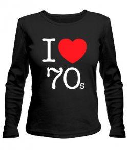 Женский лонгслив I love 70s