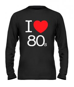 Мужской Лонгслив I love 80s