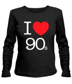 Женский лонгслив I love 90s