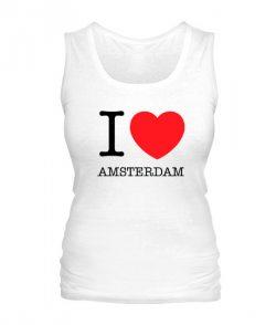Женская майка I love Amsterdam